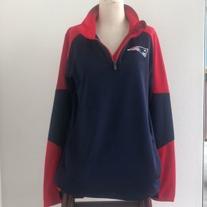 NFL New England Patriots 3/4 Zip Sweatshirt